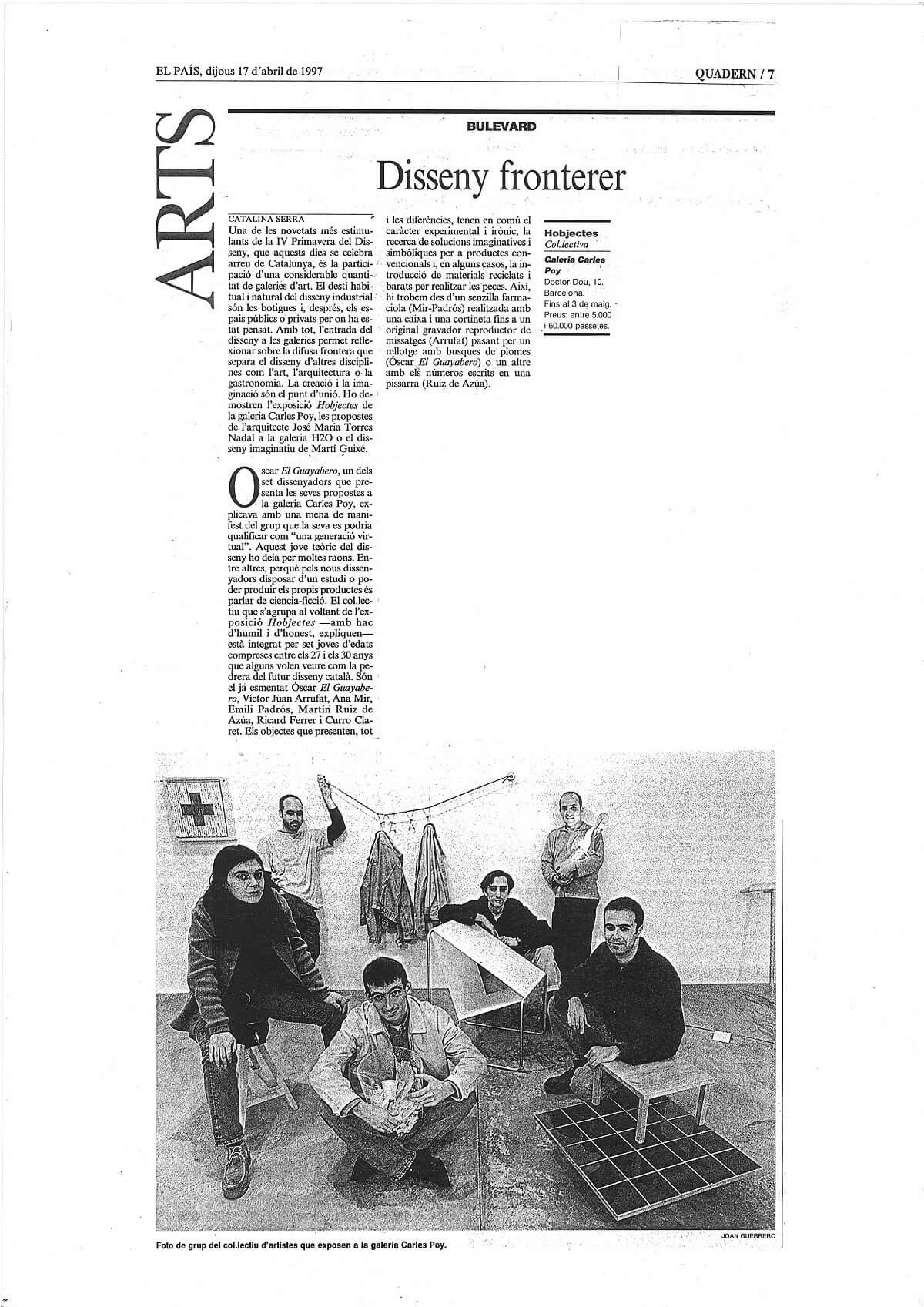 dijous 17 d abril de 1997_Hobjectes