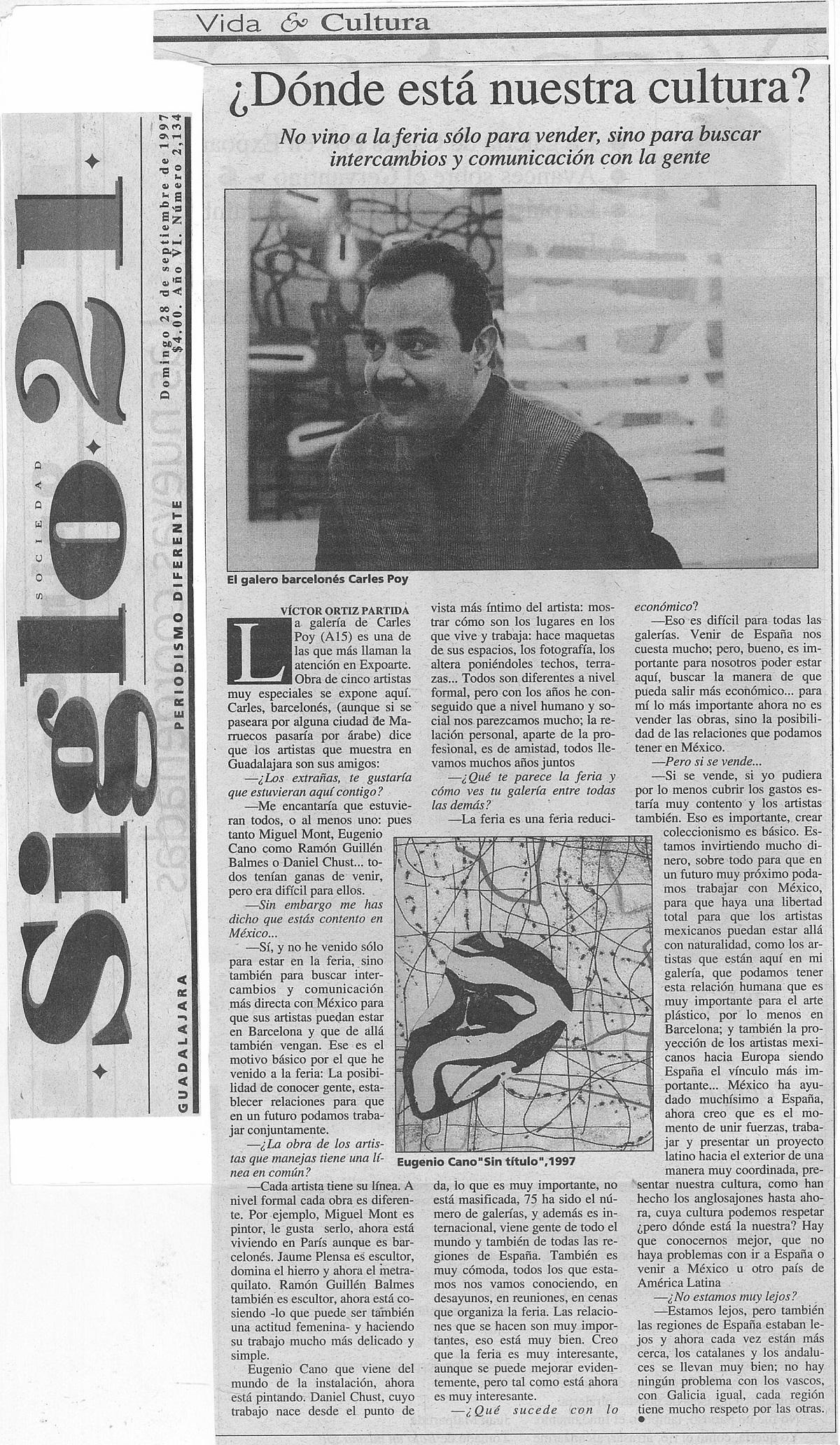 domingo, 28 de septiembre de 1997_ Donde está nuestra cultura