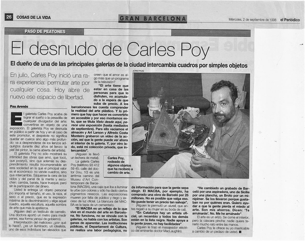 miércoles. 2 de septiembre de 1998_El desnudo de Carles Poy